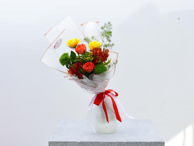 Fiery Flower Bouquet Hand Bouquets