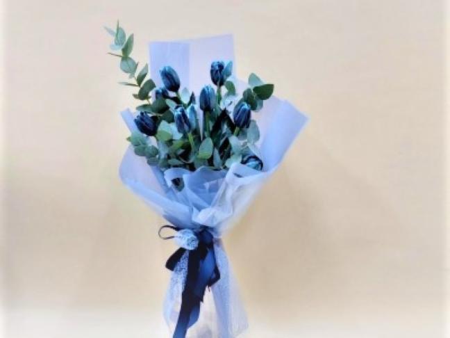 The Blue Hand Bouquet Hand Bouquets