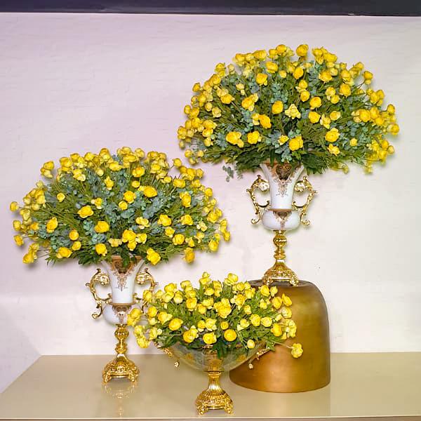 Artificial Ranunculus - Yellow  Artificial Plants