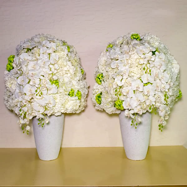 أبيض اصطناعي # 1 نباتات اصطناعية