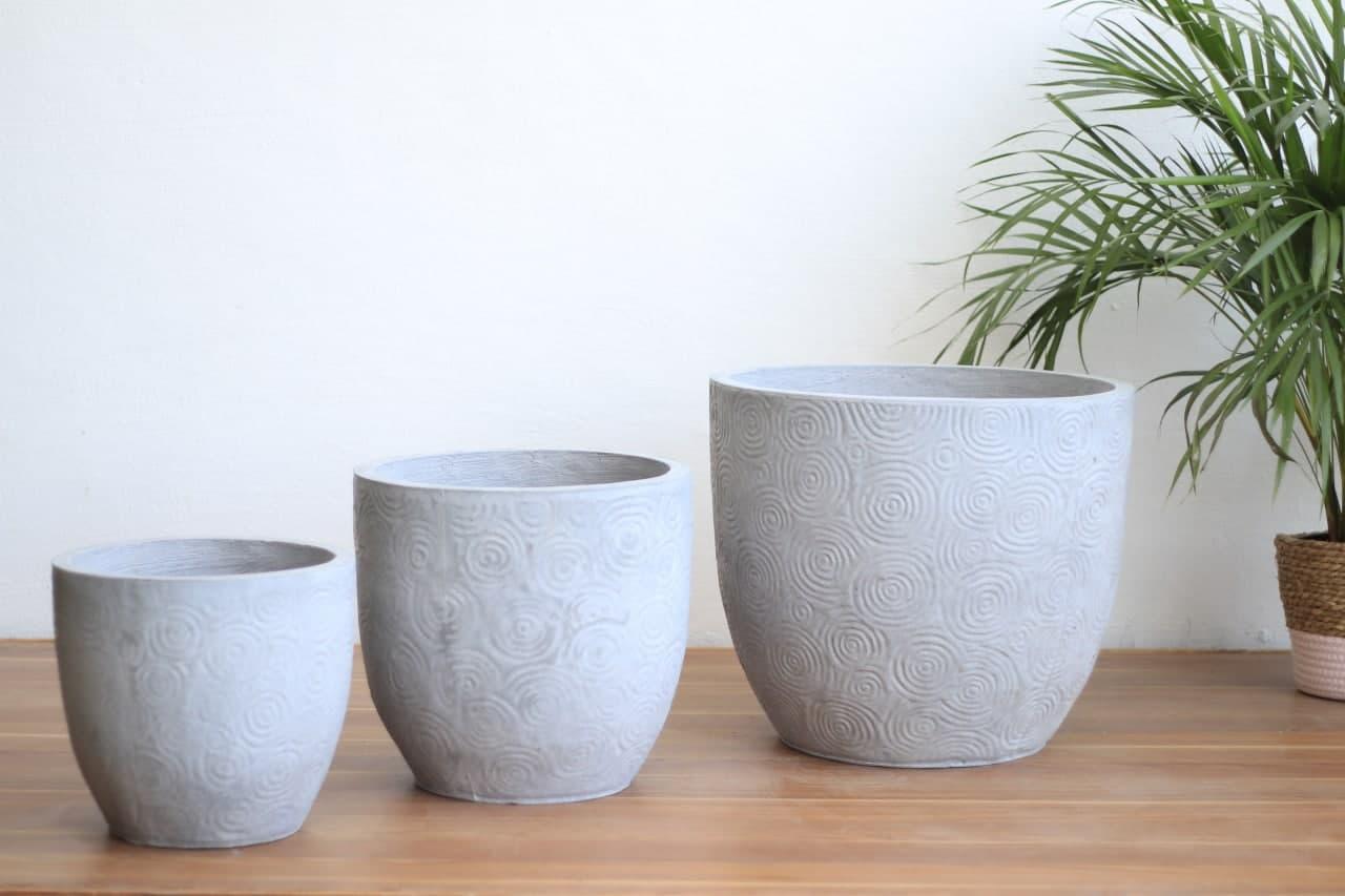 Cement Pot BN1003 Medium Pots & Vases