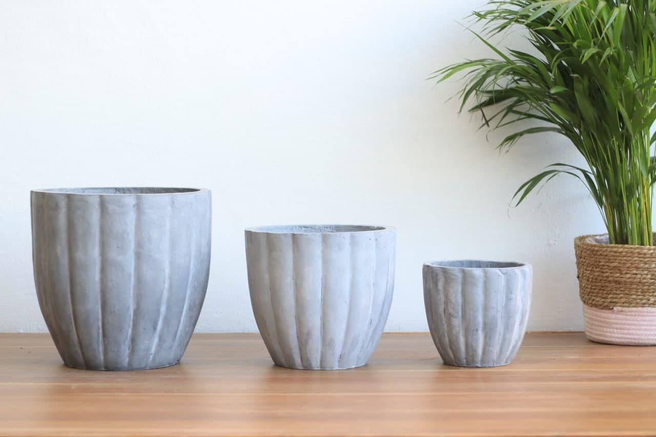 Cement Pot BN1004 Medium Pots & Vases